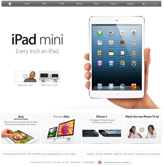 Главная страница Apple.com