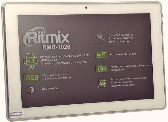 Планшет Ritmix RMD 1026