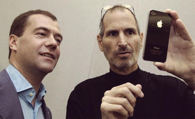 Стив Джобс и Медведев