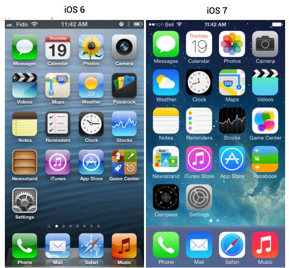 Новый интерфейс iOS 7