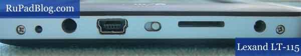 У LT-115 дополнительно слот карты памяти и кнопка блокировки